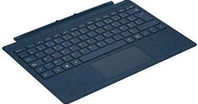 Microsoft Clavier Type Cover pour  Surface Pro Bleu Cobalt – AZERTY : Très belle qualité